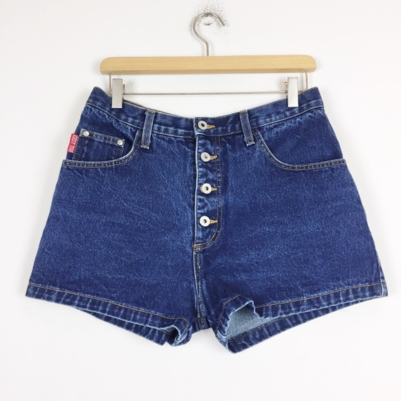 Vintage high waisted jean short shorts button fly